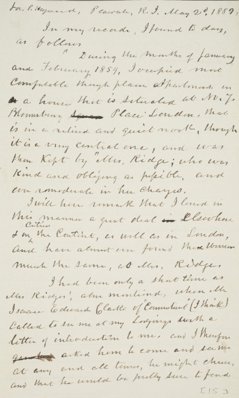 Notes, Peacedale, 1889-05-02