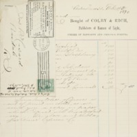 Bill from Colby & Rich, 1890-02-24
