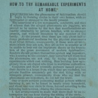 How to Try Remarkable Experiments at Home, ca. 1870